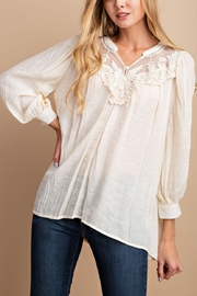 Lyn-Maree's  Crochet Lace Trim Top - Front cropped