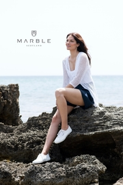 Marble Crochet Loose Knit Cover Up - Product Mini Image