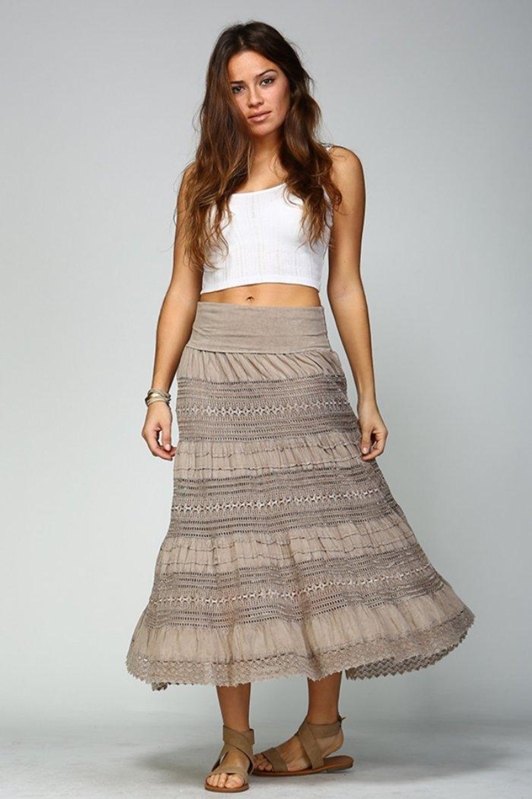 Apparel Love Crochet Maxi Skirt - Front Cropped Image