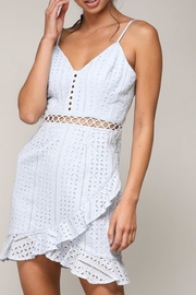 blue blush Crochet Mini Dress - Product Mini Image