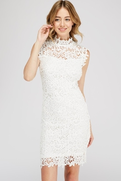Shoptiques Product: Crochet Mock-Neck Dress