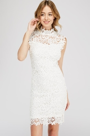 Hashtag Crochet Mock-Neck Dress - Product Mini Image