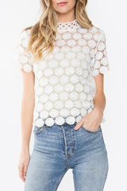 Sugarlips Crochet Mock-Neck Top - Front cropped