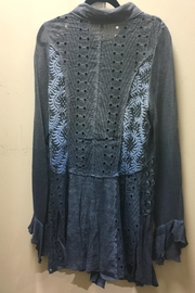 Adore Crochet Motif Blouse - Front full body