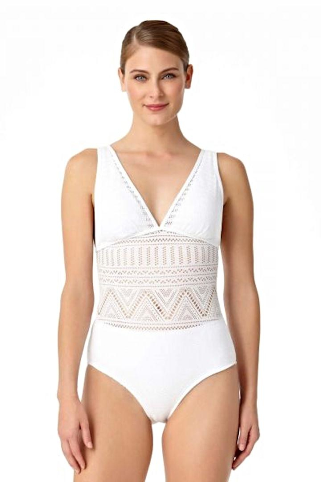 Anne Cole Crochet One Piece - Main Image