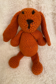 tesoro  Crochet Orange Dog Stuffed Animal - Product Mini Image