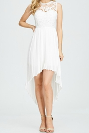 The Clothing Co Crochet Pleated Dress - Product Mini Image