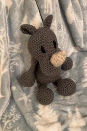 tesoro  Crochet Rhino Stuffed Animal - Product Mini Image
