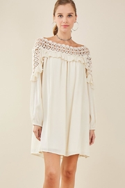 Entro Crochet Shift Dress - Product Mini Image