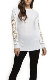 Dex Crochet Sleeve Sweater - Product Mini Image