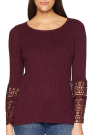 Tribal Crochet Sleeve Sweater - Product Mini Image