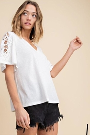 Mittoshop Crochet Sleeve Top - Product Mini Image