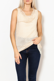 Pete Crochet Sleeveless Cowl Neck Tank - Product Mini Image