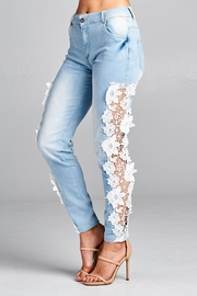 Racine Crochet Statement Jeans - Front cropped