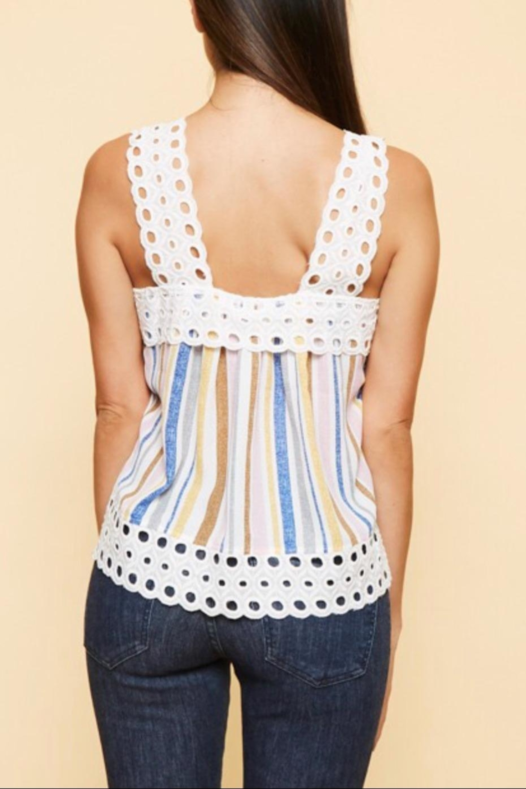 Available Crochet Strap Tank - Front Full Image