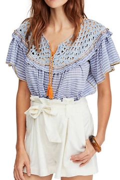 Shoptiques Product: Crochet Striped Top