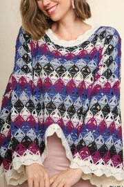 Umgee USA Crochet Sweater - Front cropped