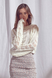 storia Crochet Sweater - Back cropped