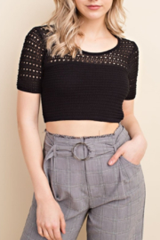 Honey Punch Crochet Top - Front cropped