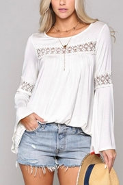 KyeMi Crochet Trim Tunic - Product Mini Image