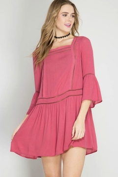 She + Sky Crochet-Trim Tunic Top - Product List Image
