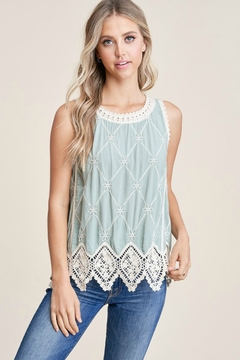 Staccato Crochet Trimmed Tank - Product List Image