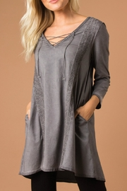 Simply Noelle Crochet Tunic Top - Product Mini Image