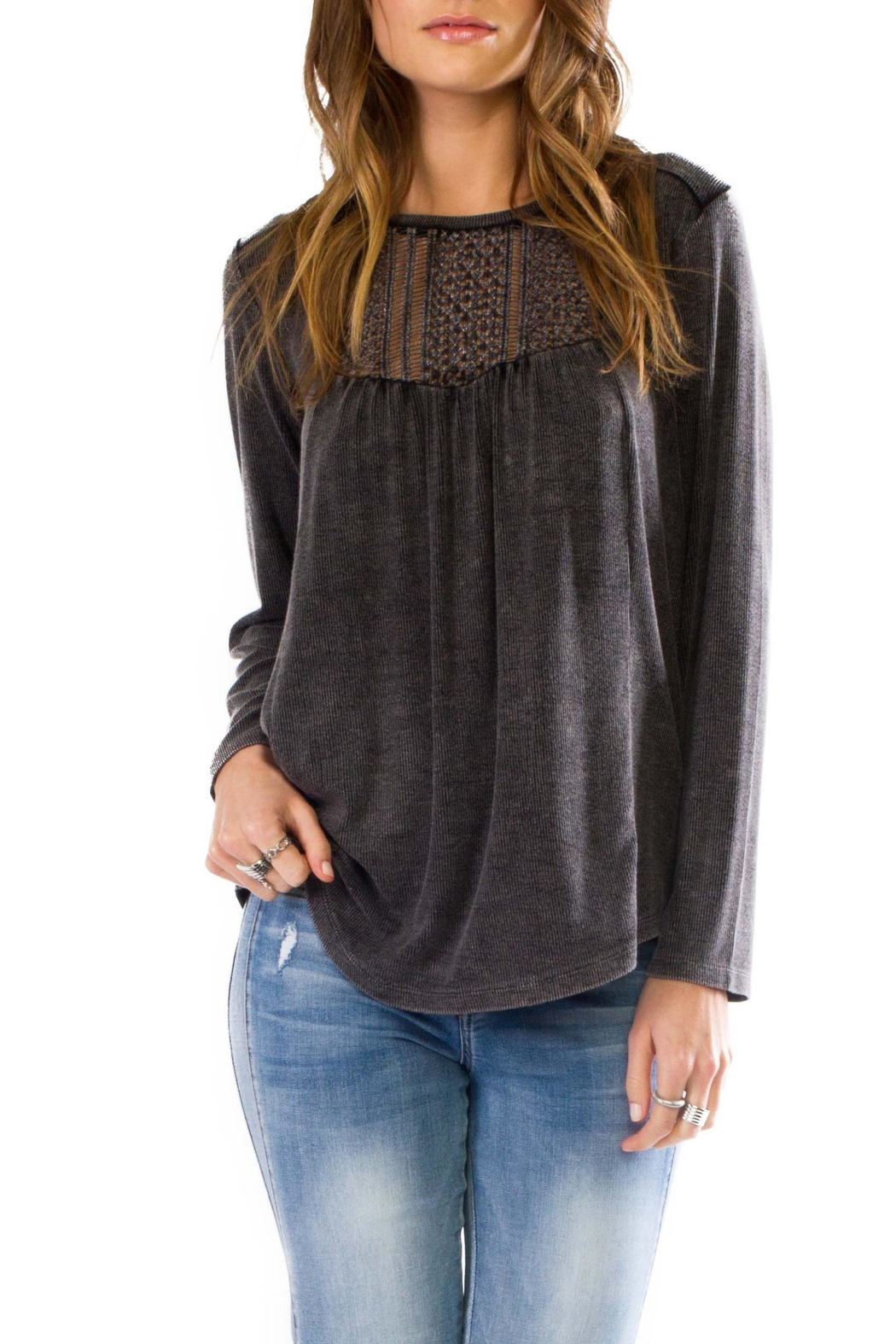 Anama Crochet Yoke Blouse - Main Image