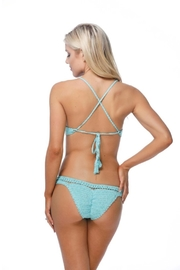 beach joy Crocheted Bikini Top - Back cropped