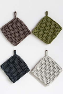 Creative Co-Op Crocheted Cotton Pot Holder - Product List Image