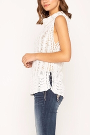 Miss Me Crocheted Turtleneck - Side cropped