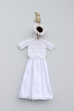 Crochet de Bebe by Roxana Fuentemayor Baptism Knit Gown - Product List Image
