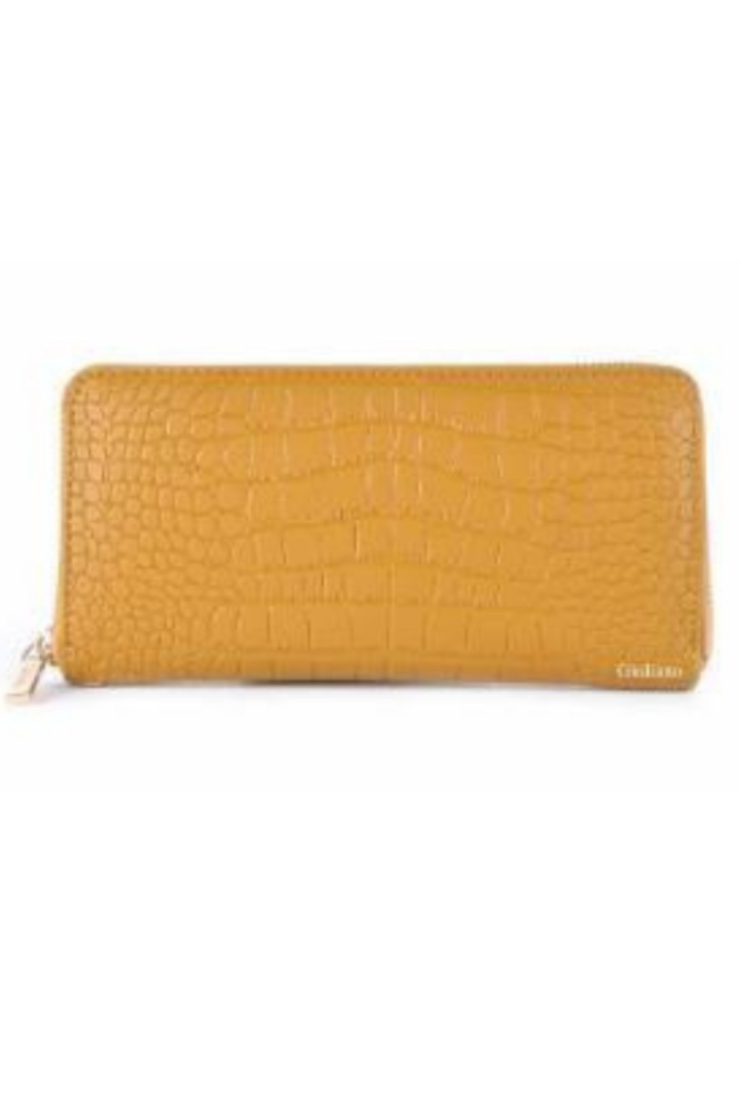 DiJore Crocodile Embossed Italian Leather Wallet - Front Cropped Image