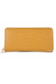 DiJore Crocodile Embossed Italian Leather Wallet - Front cropped