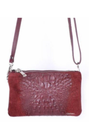 DiJore Crocodile Embossed Italian Purse - Product Mini Image