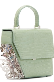 Ming Ray Crocodile Green Shoulderbag - Front cropped