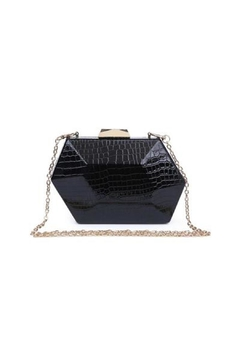 Urban Expressions Crocodile Hard Clutch - Product List Image