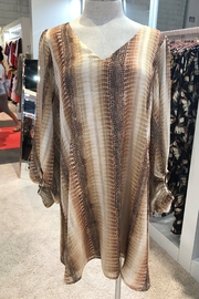 Adrienne Crocodile Print Dress - Product Mini Image
