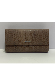 DiJore Crocodile Textured Italian Leather Purse Wallet - Product Mini Image