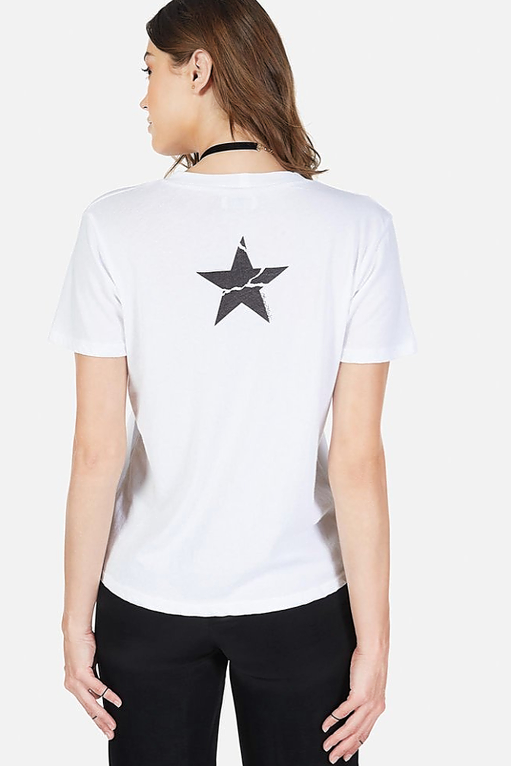 Lauren Moshi Croft Cracked RNR Star Tee - Front Full Image