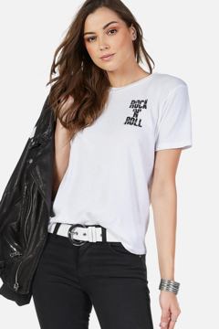 Lauren Moshi Croft Cracked RNR Star Tee - Product List Image