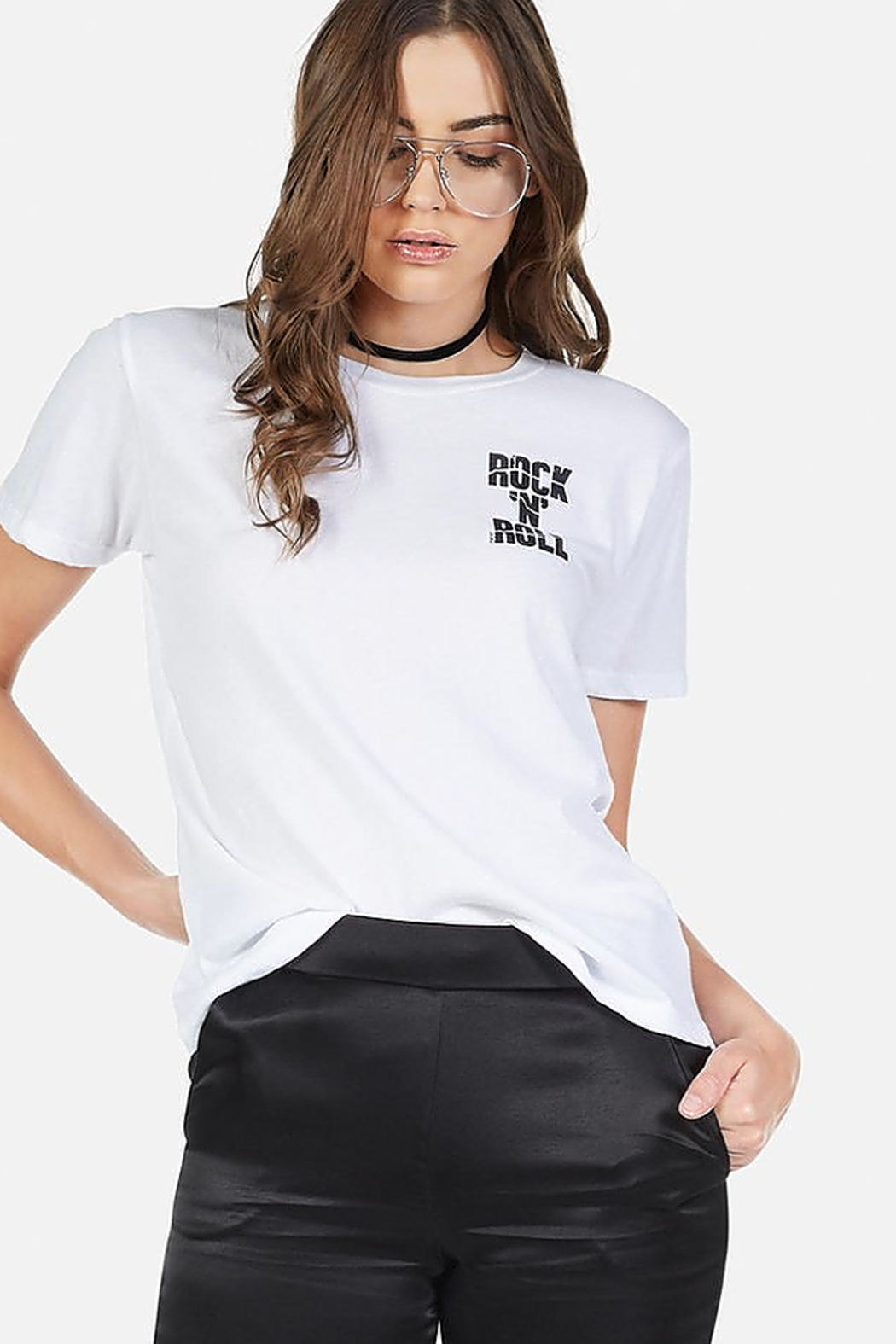 Lauren Moshi Croft Cracked RNR Star Tee - Back Cropped Image