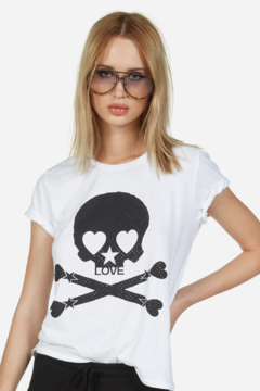 Shoptiques Product: Croft Crystal Love Skull Tee