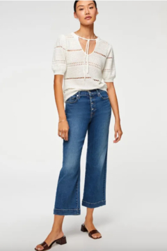 7 For all Mankind Crop Alexa Exp Buttons - Product List Image