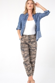 Liverpool  Crop Camo Cargo - Side cropped