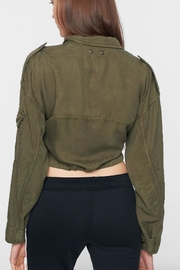 Pam & Gela Crop Cargo Jacket - Front full body