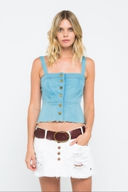 skylar madison Crop Denim Top - Product Mini Image