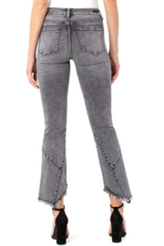 Liverpool  Crop Flare Patch Jean - Front full body