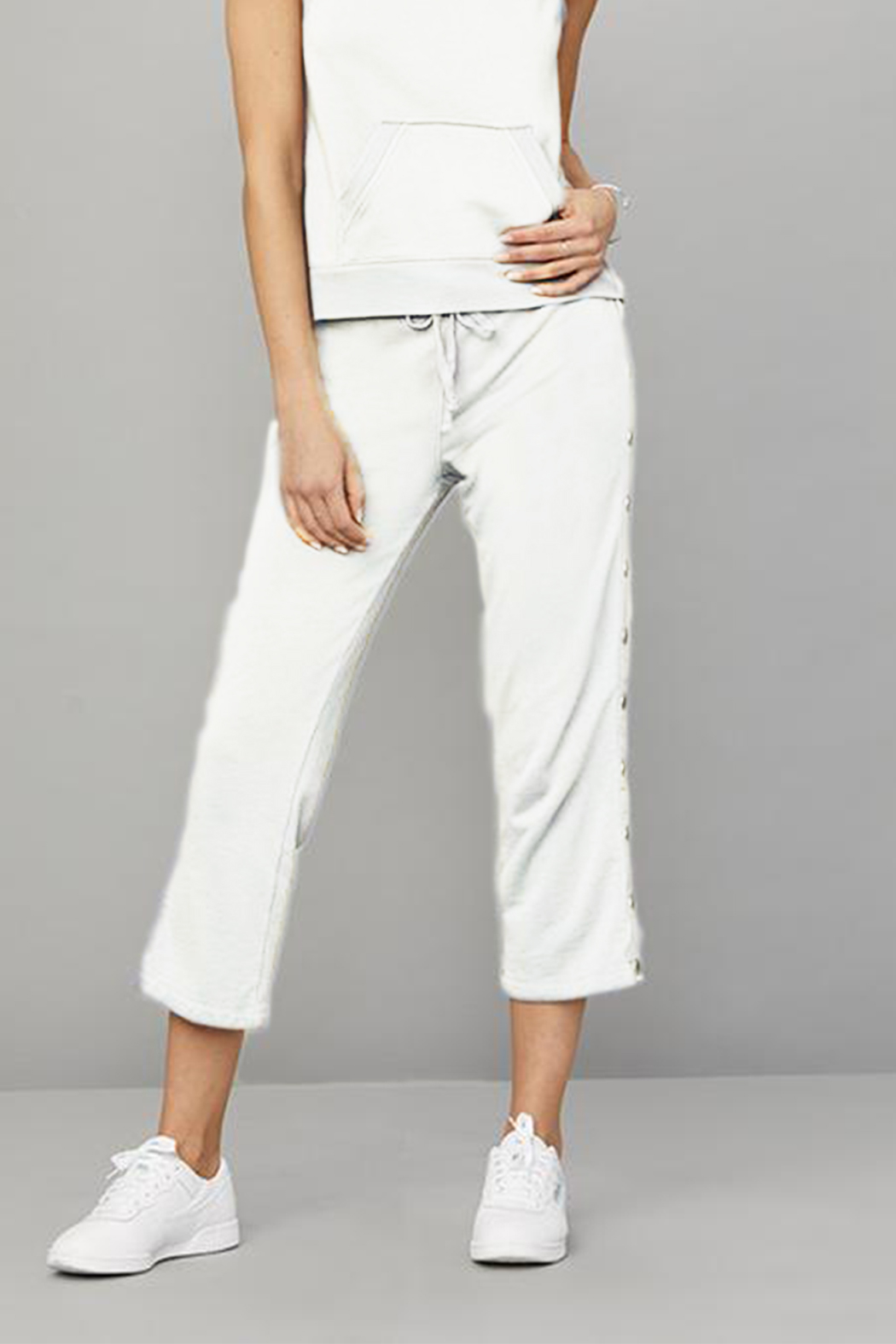 David Lerner New York Crop Flare Snap Lounge Pant - Side Cropped Image