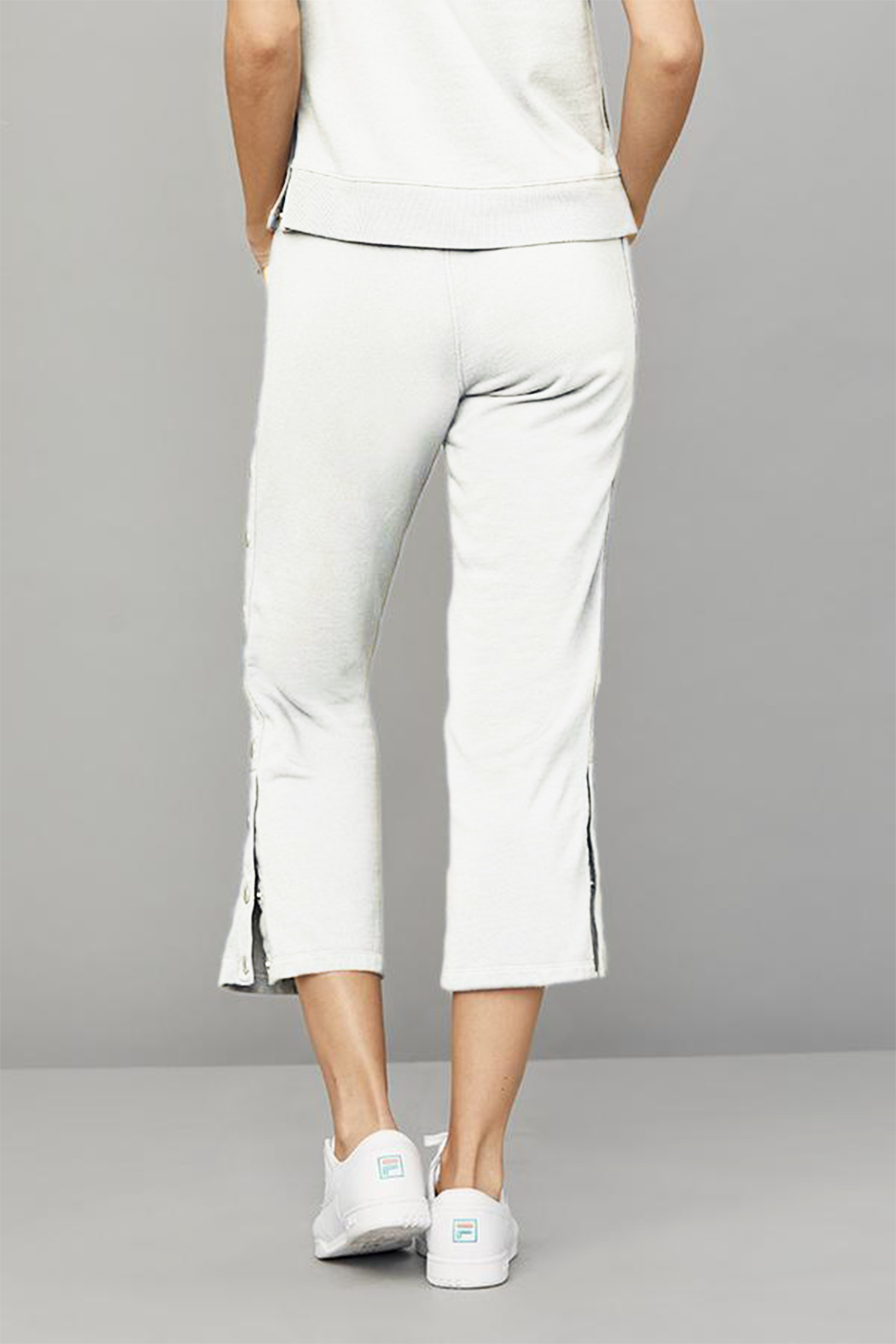 David Lerner New York Crop Flare Snap Lounge Pant - Front Full Image